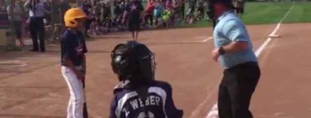 Marine Dad Dresses Up As Umpire And Surprises Son At His Baseball Game